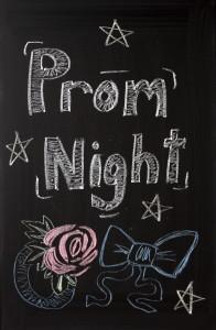 """Chalkboard with """"Prom Night"""" written on it."""
